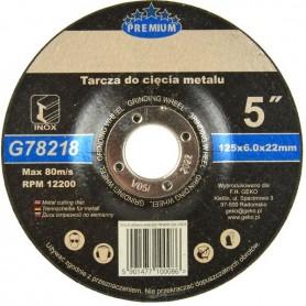 Disc de polizat inox 125x6x22 mm