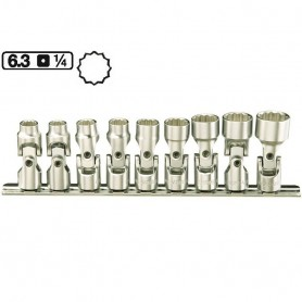 Set de chei tubulare articulate 1/4 (6.3mm)