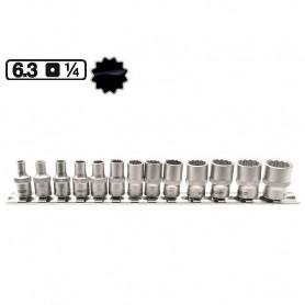Set de tubulare stelate scurte 1/4 , 4-14mm