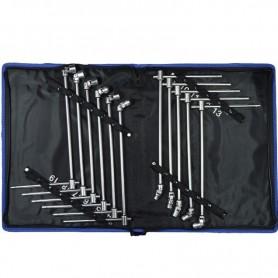 Set de chei T articulate 8-19mm