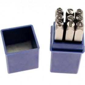 Set de pansoane cu numere de la 0-9, 4mm