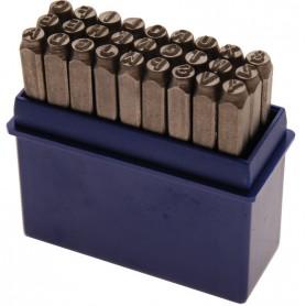 Set de poansoane cu litere 5mm