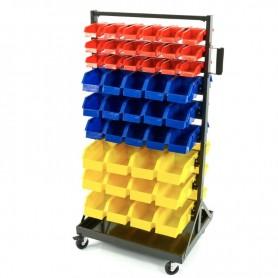 Raft mobil cu 90 cutii din plastic